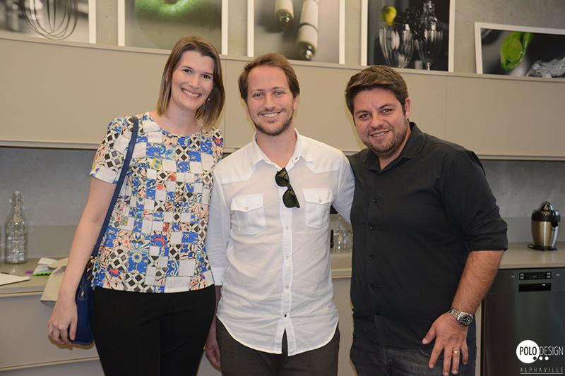 Juliana Zanetti, Bruno Fachini (Dell Ano) e Rafael Camargo (Mosarte)